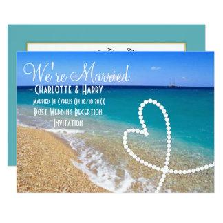 Posten-Hochzeits-Empfangs-Party-sonnige 12,7 X 17,8 Cm Einladungskarte