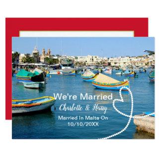Posten-Hochzeits-Empfangs-Party verheiratet in Karte
