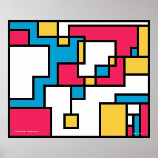 Poster Affiche de Pixel-Plasticism