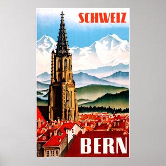 Poster Affiche de voyage de Berne, Suisse