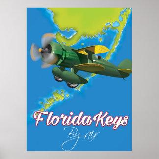 Poster Affiche de voyage de clés de la Floride