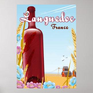 Poster Affiche de voyage de Languedoc France