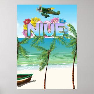Poster Affiche de voyage de Niué South Pacific