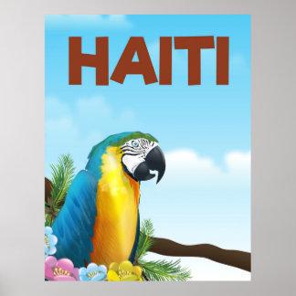 Poster Affiche de voyage du Haïti