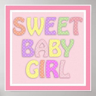 Poster Affiche douce de bébé