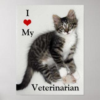 Poster Aimez mon affiche vétérinaire de Zorro Kitty