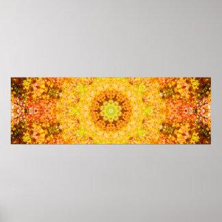 Poster Art abstrait de mandala d'automne