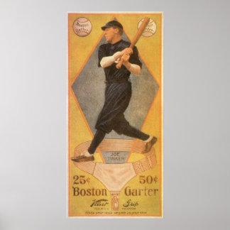Poster Art vintage d'étiquette de produit, jarretière de