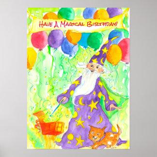 Poster Ayez les enfants magiques d'un anniversaire