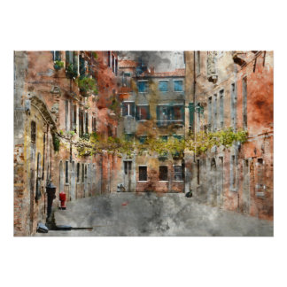 Poster Beaux bâtiments à Venise Italie