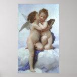 Poster Bouguereau - L'Amour et Psyché, Enfants