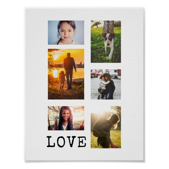 Poster Collage de cadre de 6 photos