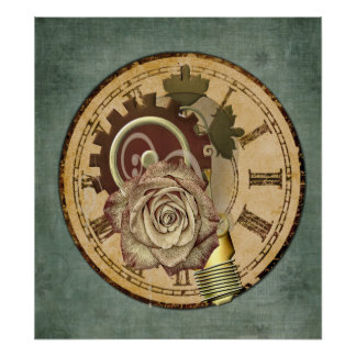 Poster Collage vintage d'horloge
