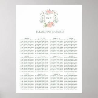 Poster Diagramme d'allocation des places de fleur