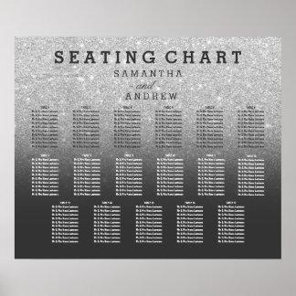 Poster Diagramme gris 17 d'allocation des places d'ombre