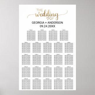 Poster Diagramme simple d'allocation des places de