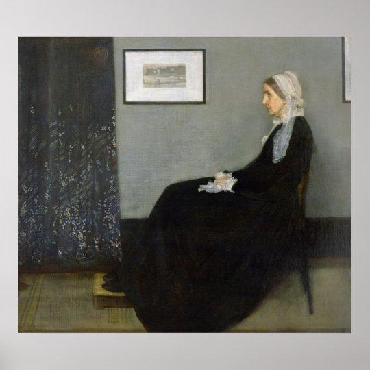 Poster Disposition dans No.1 gris et noir