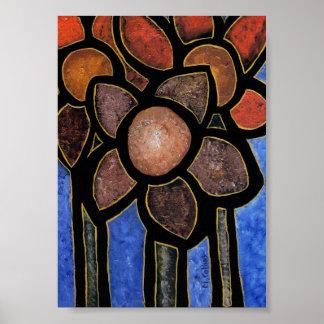 Poster Fleurs abstraites