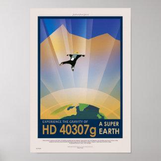 Poster Future affiche de Sci fi de voyage de la NASA - la