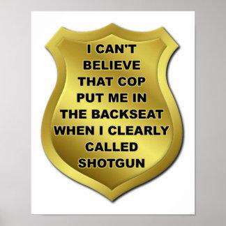 Poster J'ai appelé l'affiche de Shotgun Funny