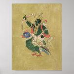 Poster Kama, Dieu de l'amour, 18ème-19ème siècle