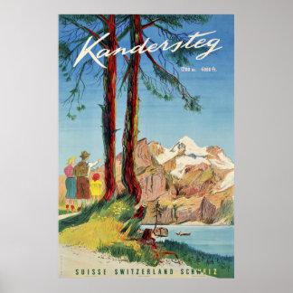 Poster Kandersteg, Suisse, affiche de voyage