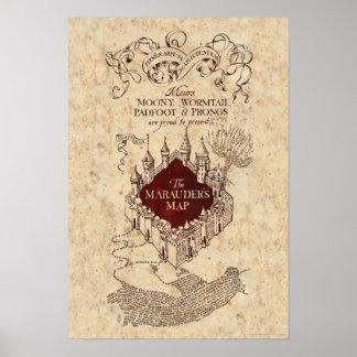 Poster La carte du maraudeur du charme | de Harry Potter