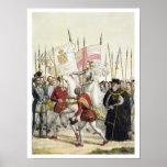 Poster La Reine Elizabeth I (1530-1603) rassemblant les t