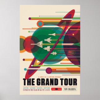 Poster L'affiche de voyage dans l'espace de visite grande