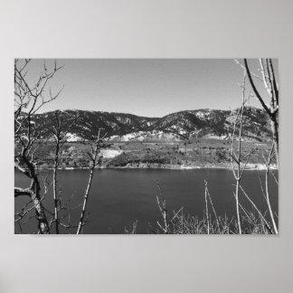 Poster Le Colorado noir et blanc
