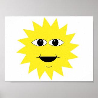 Poster le soleil