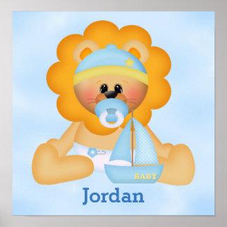 Poster Lion mignon de bébé de l'affiche de l'enfant