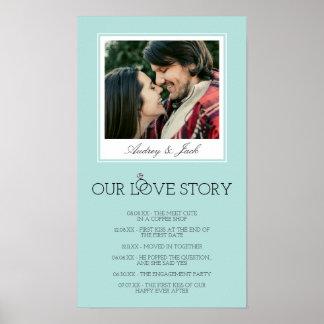 Poster L'oeuf Love Story l'épousant bleu de Robin