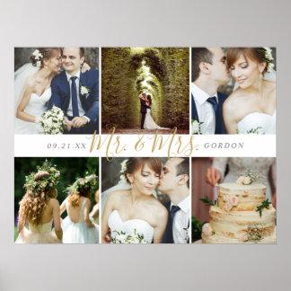 Poster M. et Mme 6 collage de souvenir de mariage de