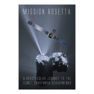 Poster Mission Rosetta - hommages tonne a spectacular