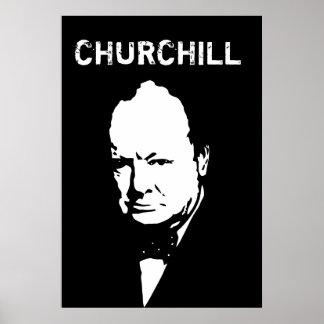 Poster Monsieur Winston noir et blanc
