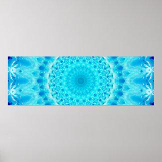 Poster Motifs bleus abstraits