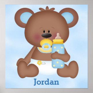 Poster Ours de nounours mignon de bébé de l'affiche de
