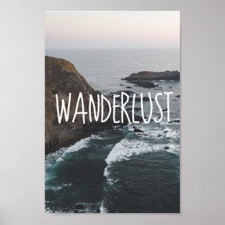 Poster Paysage d'océan de l'envie de voyager  