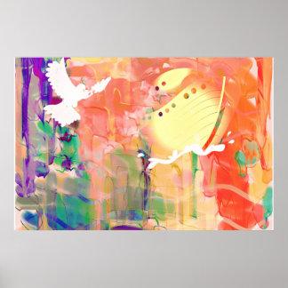 Poster Peinture murale d'affiche d'aquarelle d'arche de