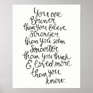 Poster Plus fort, plus futé, plus courageux et aimé