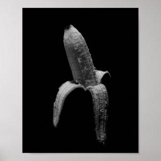 Poster Portrait noir et blanc de banane