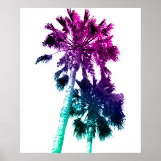 Poster Rétro copie vintage de palmier d'art de bruit