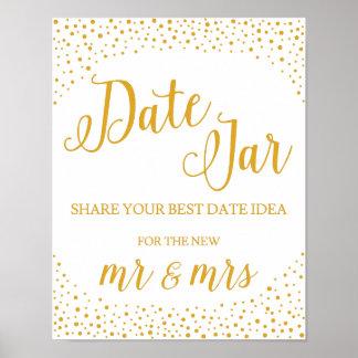 Poster Signe de mariage - signe de mariage de confettis