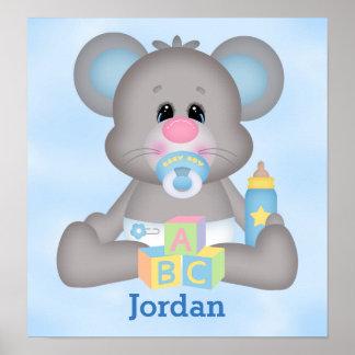 Poster Souris mignonne de bébé de l'affiche de l'enfant