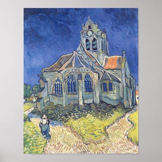 Poster Vincent van Gogh | l'église à l'Auvers-sur-Oise