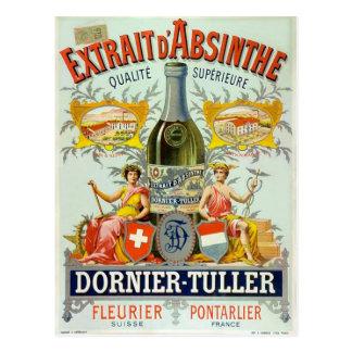 Poster vintage d'amende de d'Absinthe d'Extrait Cartes Postales