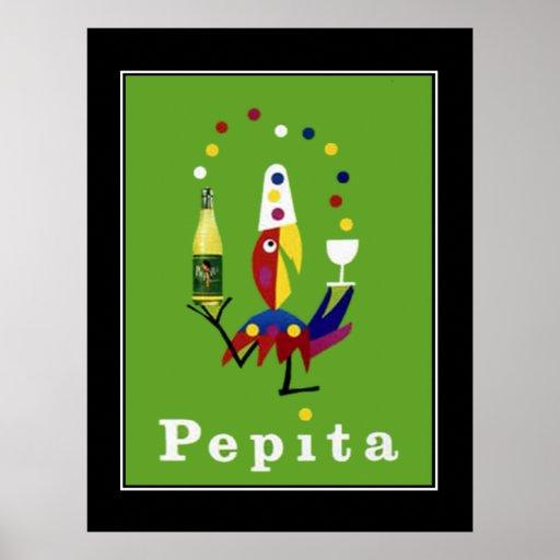 Poster vintage de boissons de Pepita