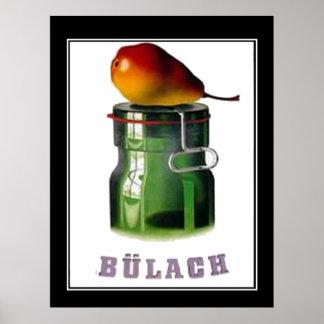 Poster vintage de Bulach Suisse Zurich