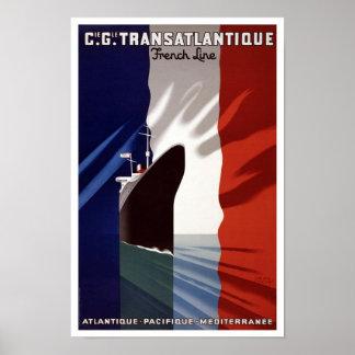 Poster vintage de Transatlantique